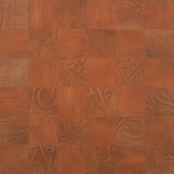 Kaleidos Mosaics mahogany-lily-chips | Natural leather wall tiles | Nextep Leathers