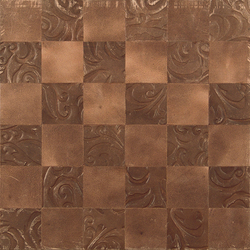 Kaleidos Mosaics sand-lily-chips | Natural leather wall tiles | Nextep Leathers