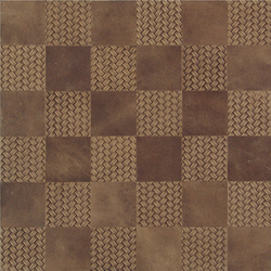 Kaleidos Mosaics sand-braid-chips | Natural leather wall tiles | Nextep Leathers