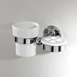 Cavendish Toothbrush and cup holder | Toothbrush holders | Devon&Devon