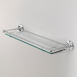 Cavendish Glass shelf with border | Shelves | Devon&Devon