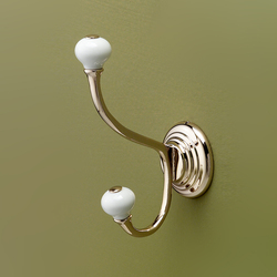 Chelsea double robe hook | Towel hooks | Devon&Devon