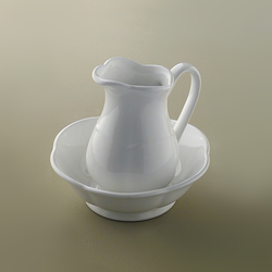Emily Carafe with bowl | Bathroom accessories | Devon&Devon