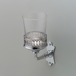 Mayfair Glass cup toothbrush holder | Toothbrush holders | Devon&Devon