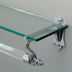 Mayfair Towel-rail with glass shelf | Towel rails | Devon&Devon