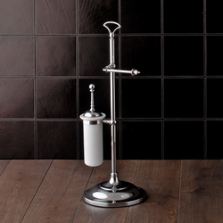 Single Freestanding toilet roll | toilet brush holder | Towel rails | Devon&Devon