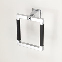 Time Black Towel ring | Towel rails | Devon&Devon