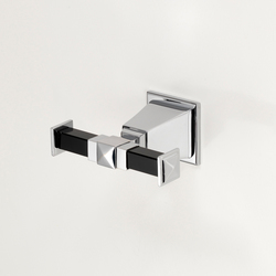 Time Black Double robe hook | Towel hooks | Devon&Devon