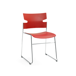 Stack chair | Visitors chairs / Side chairs | Materia