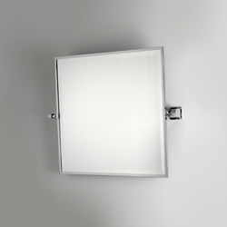 Miroir pivotant de salle de bain cadre carr chrom for Miroir pivotant