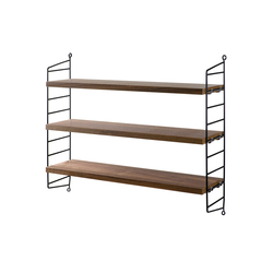 string pocket walnut black | CD racks | string furniture