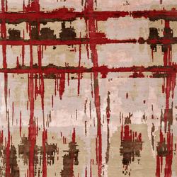 Crash 15 Teppich rot | Formatteppiche / Designerteppiche | Christine Kröncke