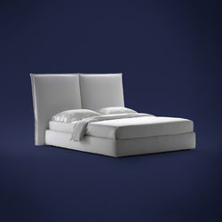Angle Smooth headboard | Double beds | Flou