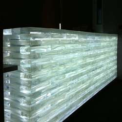 Poesia counter | Decorative glass | Poesia