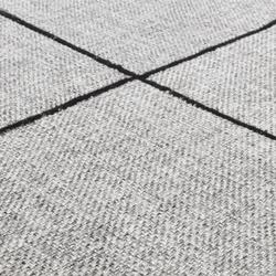 Crossline silver gray | Formatteppiche / Designerteppiche | Miinu