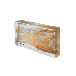 Mattoni in vetro | Classic gold | Decorative glass | Poesia