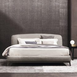Olivier Bed Pelle intrecciata | Double beds | Flou