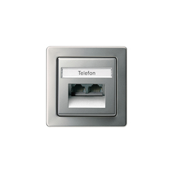 Edelstahl | Telephone socket outlet TAE | Data communication | Gira