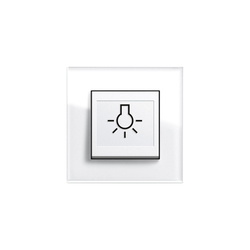 Esprit Glass | Switch with touch-activation symbol | Interrupteurs standard | Gira