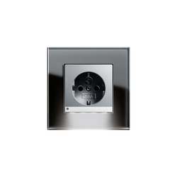 Esprit Glass | LED Socket outlet | Prese Schuko | Gira