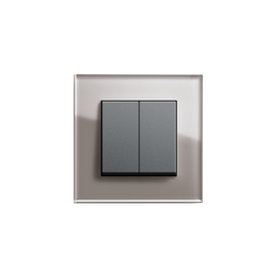 Esprit Glass | Series control switch | interuttori pulsante | Gira
