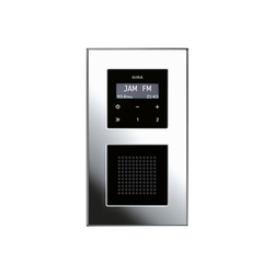 Esprit Chrome | RDS flush-mounted radio | Radio systems | Gira