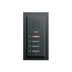 Esprit Aluminium Schwarz | Home station | Intercoms (interior) | Gira
