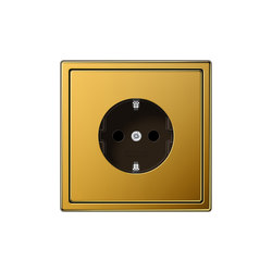 LS 990 gold 24 carat socket | Schuko sockets | JUNG