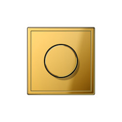 LS 990 gold coloured dimmer | Dimmer a manopola | JUNG
