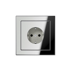 LS-design chrome socket | Schuko sockets | JUNG