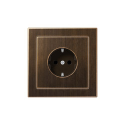 LS-design brass antiquesocket | Schuko sockets | JUNG