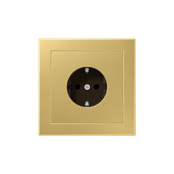 LS-design brass classic socket | Enchufes Schuko | JUNG