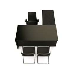 Brand L-desk modesty glass | Scrivanie individuali | M2L