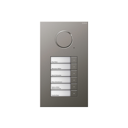 Door station stainless steel | 6-gang | Intercomunicación exterior | Gira