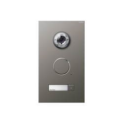 Door station stainless steel | 1-gang with video | Intercoms (exterior) | Gira
