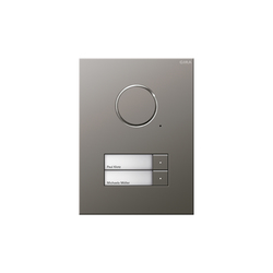 Door station stainless steel | 2-gang | Intercomunicación exterior | Gira