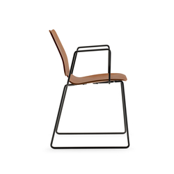 Noa Skid Chair with armrests | Mehrzweckstühle | ONDARRETA