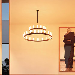 Chandelier doppio Suspension lamp | General lighting | FontanaArte