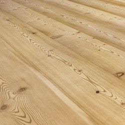 LARCH wide-plank brushed | white oil | Sols en bois | mafi