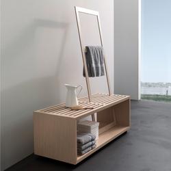 spirit Inspiration 11 | Sitzbank mit Handtuchhalter Eiche hell | Taburetes / Bancos de baño | talsee