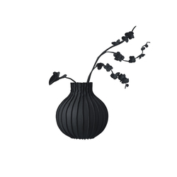Wall vase Black / White | Objects | JAN WILLEM de LAIVE
