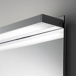 Spiegelwand style mit Aufbauleuchte SmallLine | Bathroom lighting | talsee