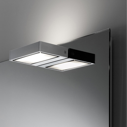 Spiegelwand style mit Aufbauleuchte SmallLine130 | Bathroom lighting | talsee