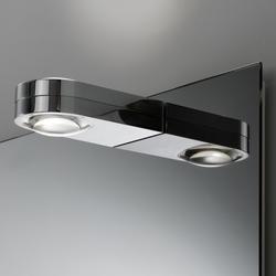 Spiegelwand style mit Aufbauleuchte Shy Duo | Bathroom lighting | talsee