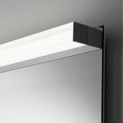 Spiegelwand style mit Aufbauleuchte SpinaQuick | Bathroom lighting | talsee