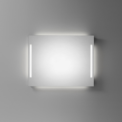 Spiegelwand cover mit senkrechten Leuchten | Espejos de pared | talsee