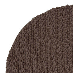 Trenzas Rug Circular Brown 6 | Formatteppiche / Designerteppiche | GAN