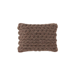 Trenzas Cushion Brown 3 | Cuscini | GAN