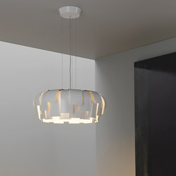 Wig Suspension lamp | General lighting | FontanaArte