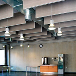 Space│baffle with frame | Acoustic ceiling systems | silentrooms